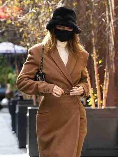 Kendall Jenner Long Brown Coat