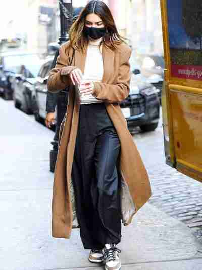 Kendall Jenner Long Brown Trench Coat
