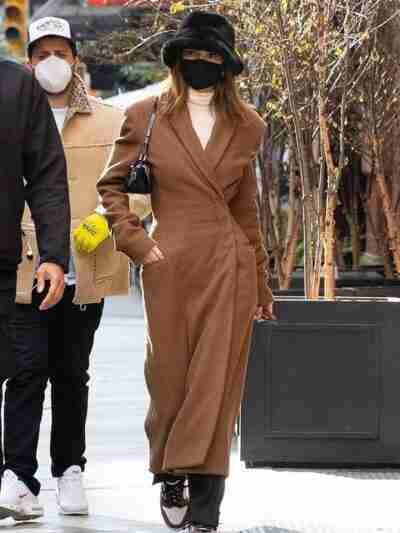Kendall Jenner Trench Brown Coat