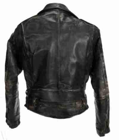 Patrick Swayze Dirty Dancing Leather Black Jacket