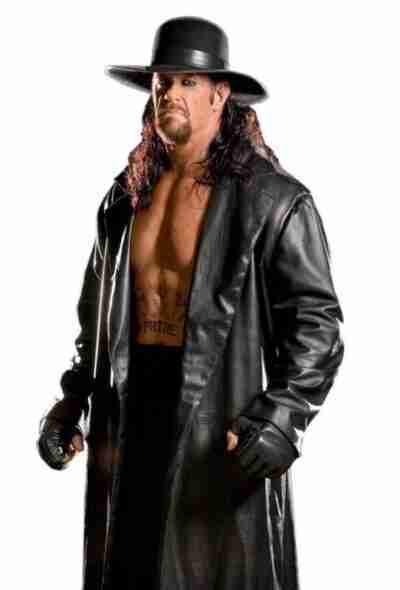 The Undertaker Long Leather Black coat