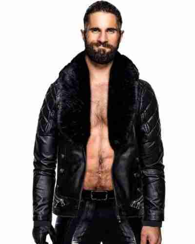 WWE Seth Rollins Leather Black Jacket