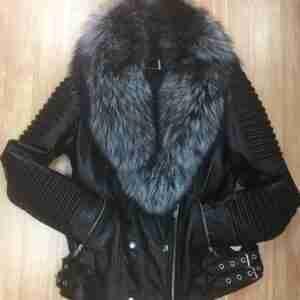 Women Asymmetrical Lambskin Jacket
